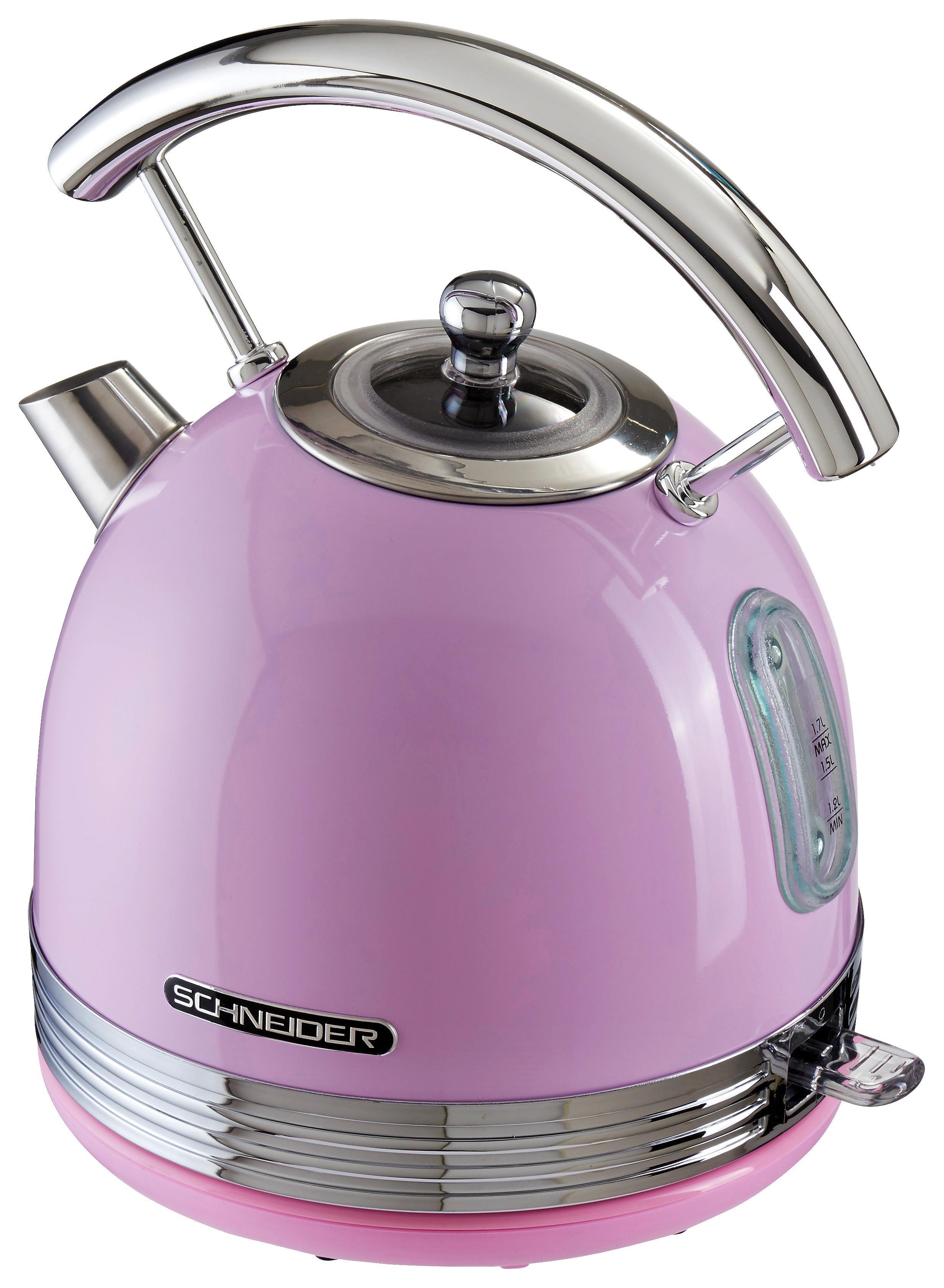 SCHNEIDER Mikrowelle mit Grill pink 23 Liter 1000 Watt Retro