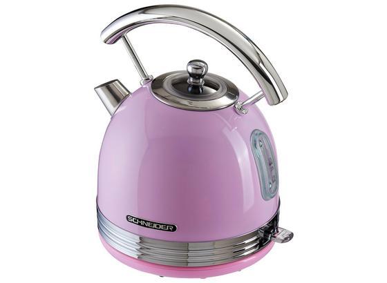 Wasserkocher Sl W2 Sp Pink 1,7l 1850-2200 W - Chromfarben/Pink, MODERN, Metall (19,8/27,3/23,7cm) - Schneider