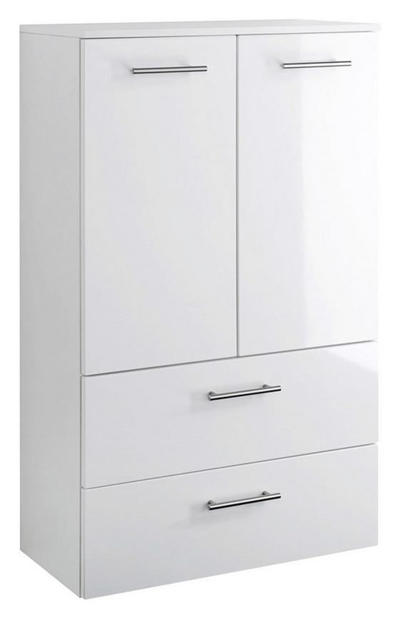 Midischrank Blanco 70 cm Weiß - Weiß, MODERN, Holzwerkstoff (70/114/35cm)