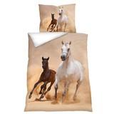 Bettwäsche Tiermotiv Horse 140/200 cm - Multicolor, Basics, Textil (70/90cm)