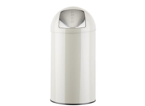 Koš Odpadkový Push Can - 2-dílný Set - barvy zinku/světle šedá, kov - Mömax modern living