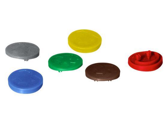 Odpadkový Kôš Farebné Body Anne -ext- - hnedá/modrá, plast (2,6cm)