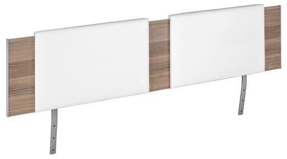 Čalúnené Záhlavie Belia - biela, Konvenčný, textil (60/38.4/3.8cm)