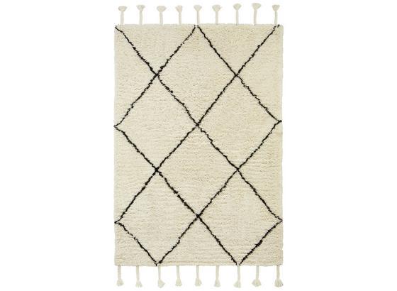 Koberec Tkaný Bombay - bílá/černá, textilie (160/230cm) - Mömax modern living