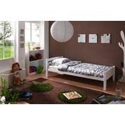 Bett Echtholz Massiv 90x200 Lupo, Weiß - Weiß, Basics, Holz (90/200cm) - Livetastic