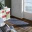 Handwebteppich Isadora 70x140 cm - Grau, Leder/Textil (70/140cm) - James Wood