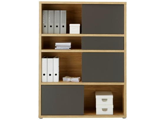 Regál Riga - barvy dubu/antracitová, Moderní, kompozitní dřevo (116,6/156,3/37cm) - Premium Living