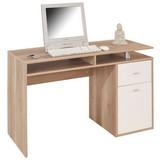 Schreibtisch Nemo - Eichefarben/Weiß, MODERN, Holz (120/75/48cm)