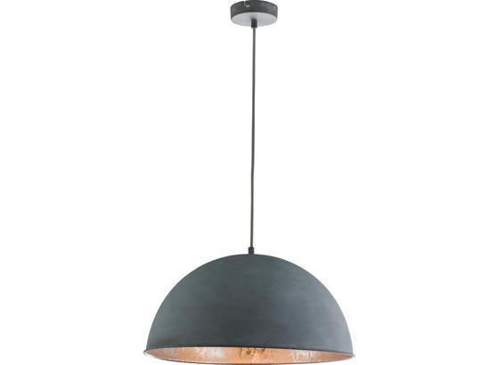 Hängeleuchte Miram - Silberfarben/Grau, MODERN, Metall (41/120cm)
