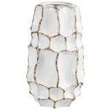 Dekovase Alert - Braun/Weiß, Natur, Keramik (14,5/25,5cm) - Luca Bessoni