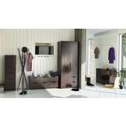 Komoda Adriana 2 Choco - tmavě hnědá, Moderní, dřevěný materiál (40/134/40cm)