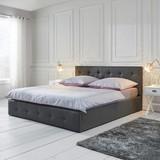 Postel; Julie - tmavě šedá, Moderní, dřevo/textil (214/190/96cm) - MÖMAX modern living