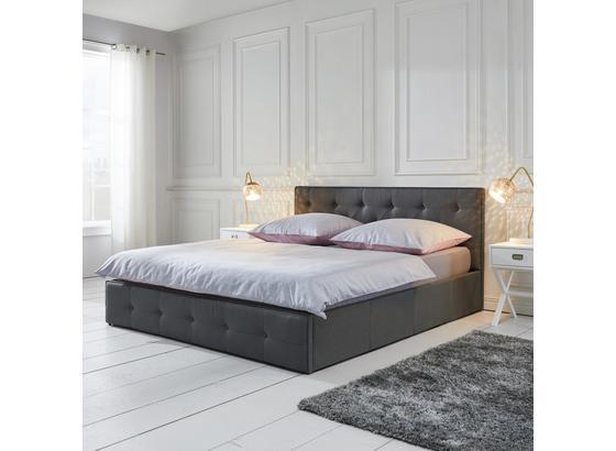 Postel, Julie - tmavě šedá, Moderní, dřevo/textil (214/190/96cm) - Mömax modern living