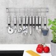 Küchenhelferset 9-teilig - Silberfarben, Basics, Metall (50cm)