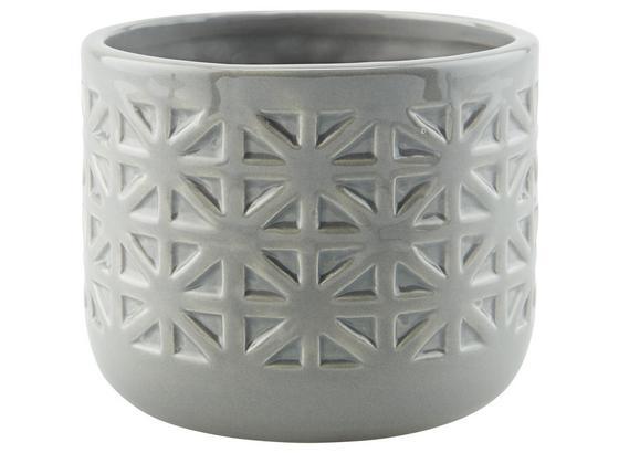 Übertopf Alexus - Weiß/Grau, Basics, Keramik (13/10,3cm) - Luca Bessoni