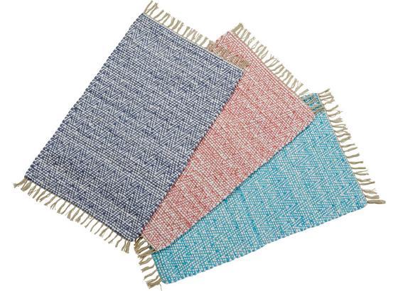 Vorleger Becky 60x90 cm - Blau/Pink, KONVENTIONELL, Textil (60/90cm) - Luca Bessoni