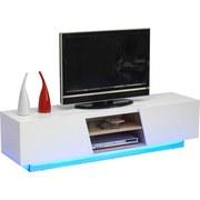 TV-Lowboard Pisa B: 160 cm Weiß - Weiß/Braun, MODERN, Holzwerkstoff (160/40/41cm)