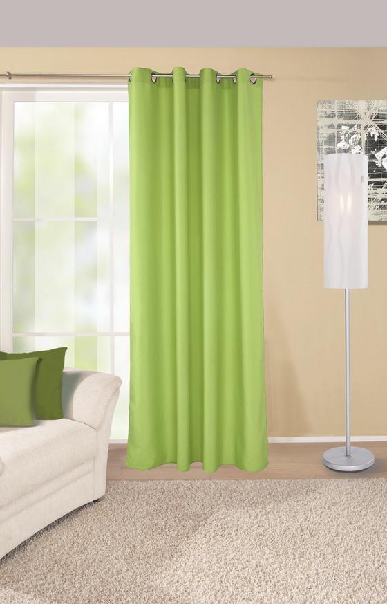 Készfüggöny Ocean - zöld, konvencionális, textil (140/245cm)