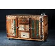 Sideboard Lissabon B: 150 cm Altholz - Silberfarben/Multicolor, Basics, Holz/Metall (150/90/40cm)