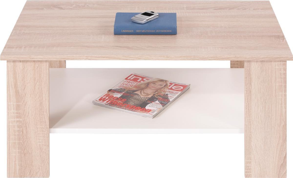 Konferenčný Stolík Paolo *cenový Trhák* - farby dubu/biela, Konvenčný, drevený materiál/drevo (90/41/55cm)