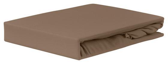 Spannleintuch Jardena 160x200 cm - Taupe, KONVENTIONELL, Textil (140-160/200cm) - Ombra
