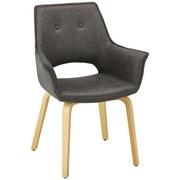 Židle Nadia - tmavě šedá/barvy buku, Moderní, dřevo/textil (66,5/91/47cm) - Mömax modern living