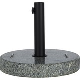 Sonnenschirmständer Sina - Schwarz/Grau, KONVENTIONELL, Stein/Metall (45/38,5/45cm) - Ombra