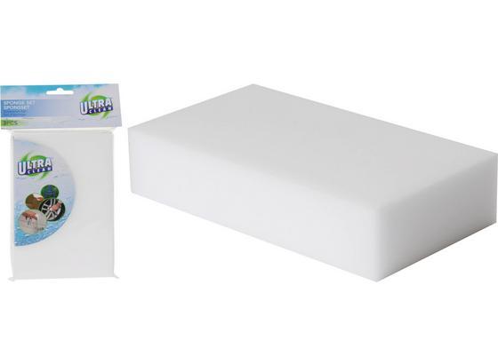 Schwamm 3er Set - Weiß, Basics, Kunststoff (11,5/6,5/2,5cm)