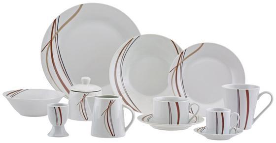 Kombiservice Karolin - Braun/Weiß, ROMANTIK / LANDHAUS, Keramik - James Wood