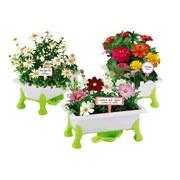 Kinder-gartengeräteset Grüner Daumen Blumen - Weiß/Grün, MODERN, Kunststoff (39/10/30cm)