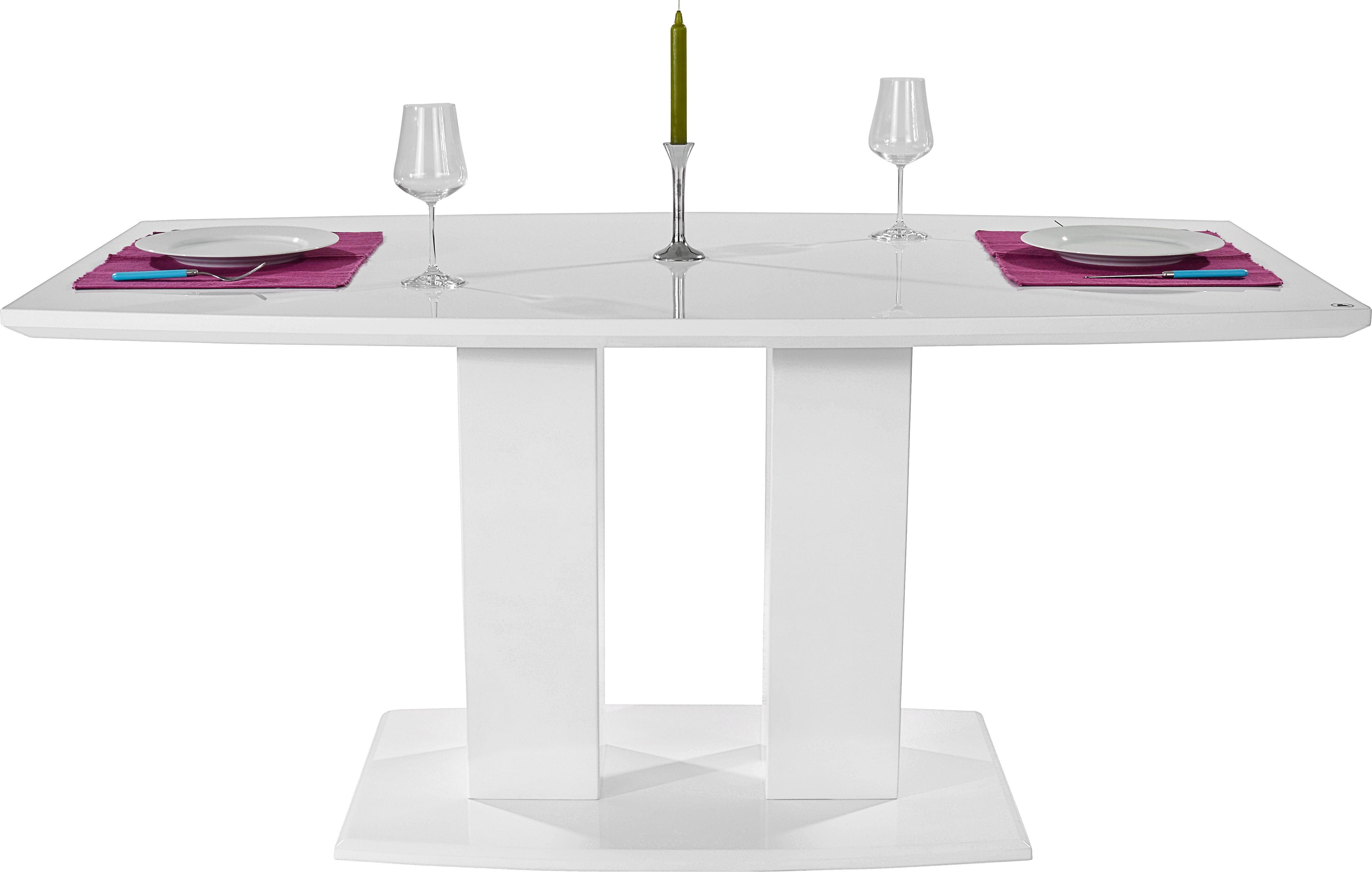Étkezőasztal Malvin 160 - fehér, modern, faanyagok (160/76/90cm)