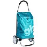 Einkaufstrolley Galaxy Azure - Silberfarben/Hellblau, KONVENTIONELL, Kunststoff/Metall (47/102/37cm)