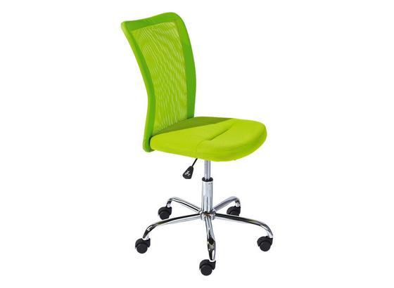 Otočná Stolička Bonnie - zelená/chrómová, Moderný, kov/textil (43/88-98cm)