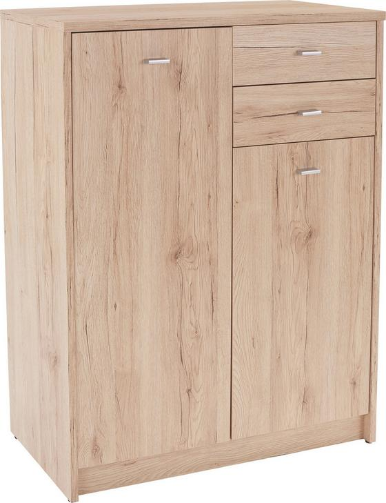 Komoda 4-you Yuk08 - barvy dubu, Moderní, dřevěný materiál (74/111,4/34,6cm)