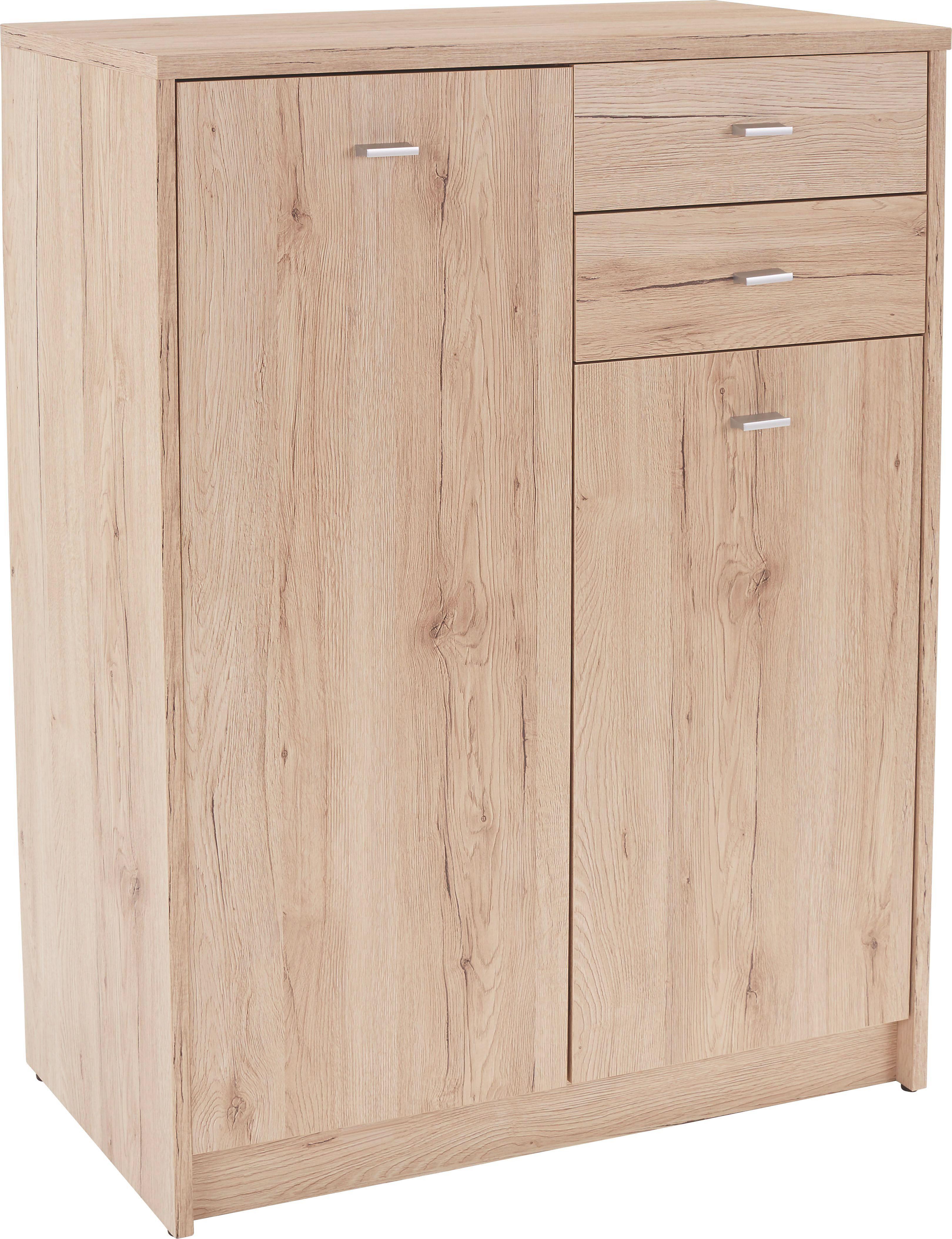 Komoda 4-you Yuk08 - barvy dubu, Moderní, kompozitní dřevo (74/111,4/34,6cm)