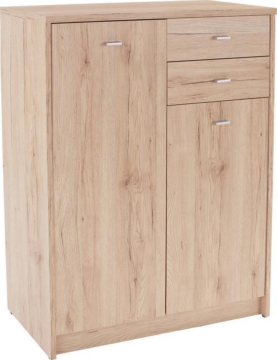 Komoda 4-you Yuk08 - farby dubu, Moderný, kompozitné drevo (74/111,4/34,6cm)