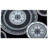 Webteppich Joffrey 120x170 cm - Schwarz/Weiß, KONVENTIONELL, Textil (120/170cm) - Ombra
