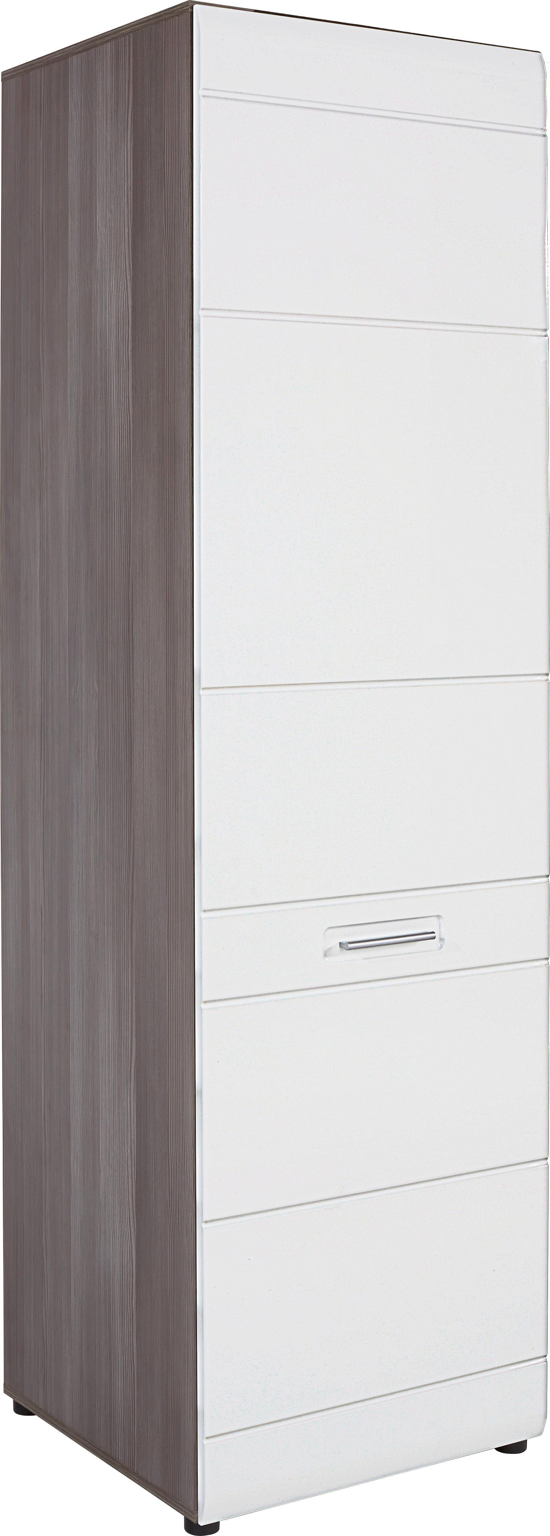 Ruhásszekrény Avensis - bronz szín/fehér, modern, fa (60/206/60cm) - LUCA BESSONI