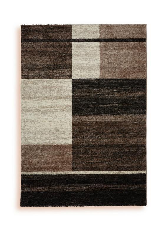 Webteppich Selem,120x170cm - Creme/Braun, Textil (120/170cm) - Ombra