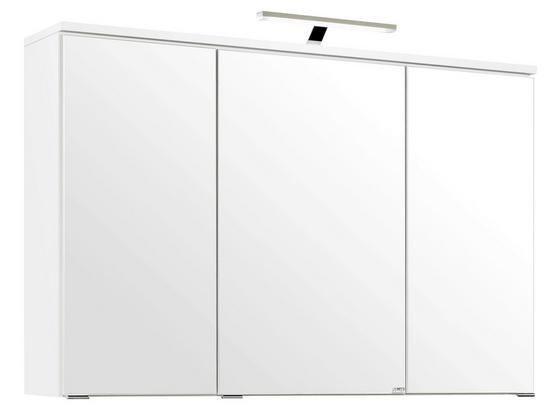 Spiegelschrank Mailand 100 cm Weiß - Weiß, MODERN, Holzwerkstoff (100/66/20cm)
