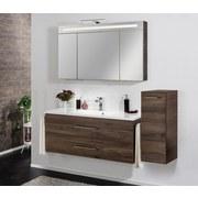 Waschtischkombi mit Soft-Close B.clever B: 120cm, Ulme Dekor - Ulmefarben/Weiß, MODERN, Holzwerkstoff/Kunststoff (120/51/46cm) - Fackelmann