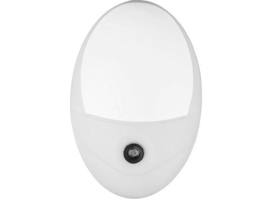 Nočná Lampička Enio - biela, Konvenčný, plast (10,5/17,5cm) - Mömax modern living