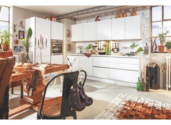 Kuchynská Linka Las Vegas - biela, Moderný, kompozitné drevo (130,7/273,2cm)