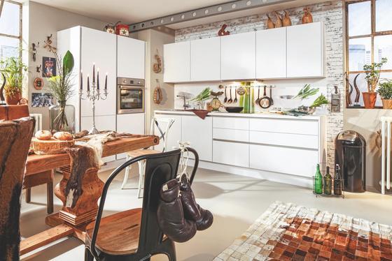 Kuchyňský Blok Las Vegas - bílá, Moderní, dřevěný materiál (130,7/273,2cm)