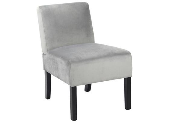 stuhl samt grau online kaufen m belix. Black Bedroom Furniture Sets. Home Design Ideas