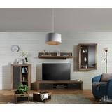 Obývacia Stena Jao - farby borovice/sivá, Moderný, umelá hmota/kov (298-318/196/41cm) - Modern Living