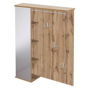 Garderobe Pisa B: 90 cm Eichefarben - Hellbraun/Eichefarben, Basics, Holzwerkstoff (90/113,2/24,5cm) - MID.YOU