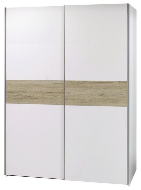 Skriňa S Posuvnými Dvermi Puls *cenový Trhák* - farby dubu/biela, Moderný, kompozitné drevo (170/195,5/58,5cm)