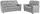 Sitzgarnitur Queenline 3er 198 cm/2er 146 cm - Silberfarben/Schwarz, KONVENTIONELL, Holz/Holzwerkstoff (198/96/92cm) - James Wood