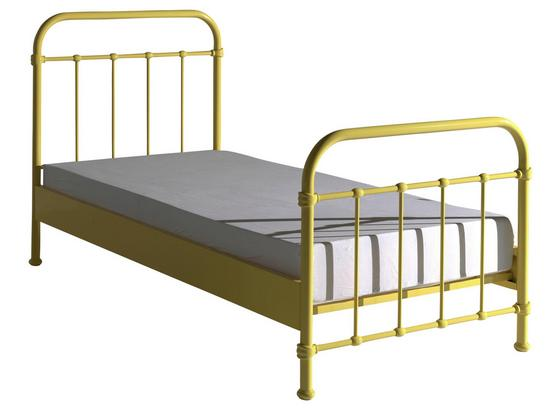 Kinder-/Juniorbett New York 90x200 cm Gelb - Gelb, ROMANTIK / LANDHAUS, Holzwerkstoff/Metall (90/200cm) - Livetastic